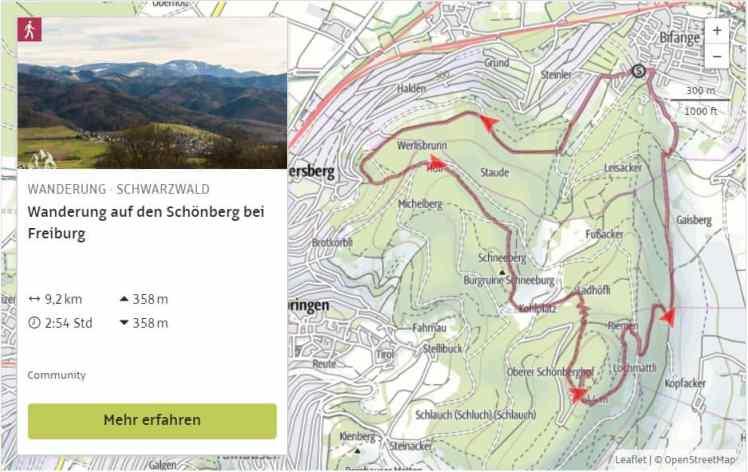 Wanderwege Deutschland Karte.Wandern In Freiburg 4 Schöne Feierabend Wanderungen Bergreif
