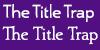Title Trap Font Small