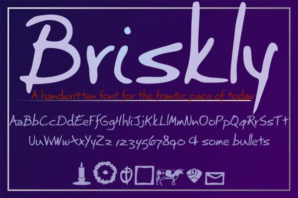 Briskly's unique characters