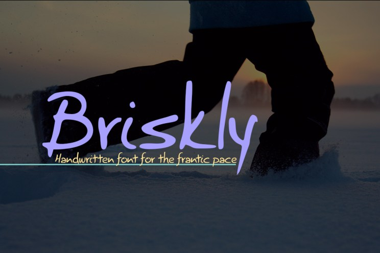 Briskly: new font release charging through the snow
