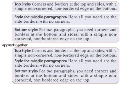 Three Border Styles