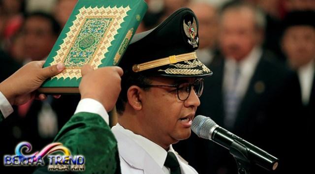 Sumpah dan Janji Anies untuk Jakarta Hingga Jabatan Berakhir