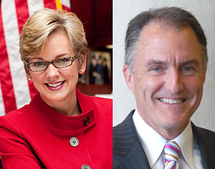 Jennifer Granholm and Daniel Mulhern