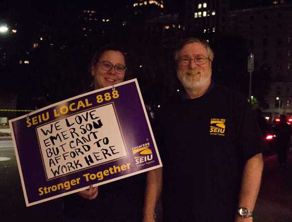 Union members struggle on college wages