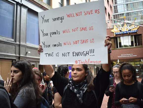 Hundreds protest against racism, present demands