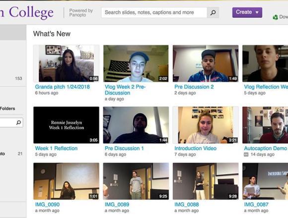 ITG hosts workshops for new video-streaming program 'Panopto'