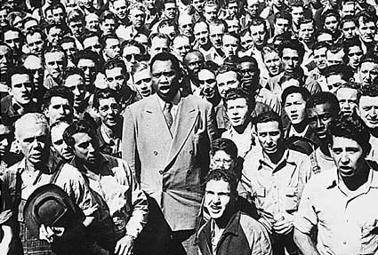 leading workers in song...1942