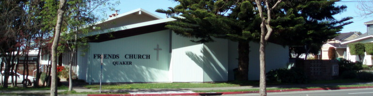 Berkeley Friends Church's meetinghouse from across Sacramento Street