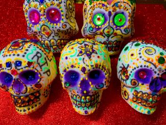 photo of sugar skulls