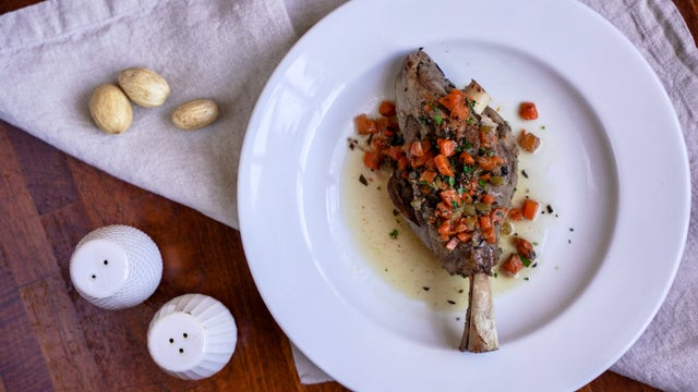 The slow braised lamb shank at Riva Cucina in Berkeley. Photo: Riva Cucina.