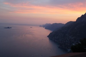 Amalfi - sunset from room