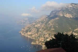 Amalfi - view from our hotel Villa Degli Dei in Nocelle