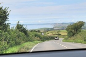 Jurassic Coast - Car drive from Portland towards Lyme Regis