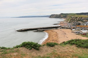Jurassic Coast - On top of East Cliff - view of West Bay
