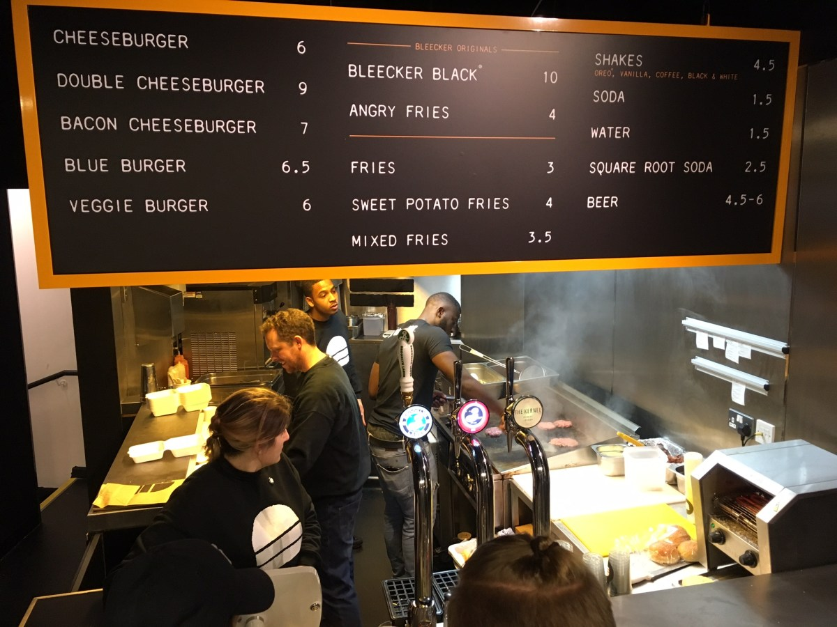 Bleecker's new London Burger Joint, Victoria
