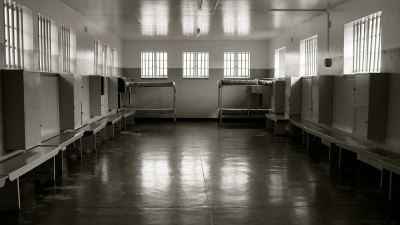 A room in South Africa's Robben Island Prison.