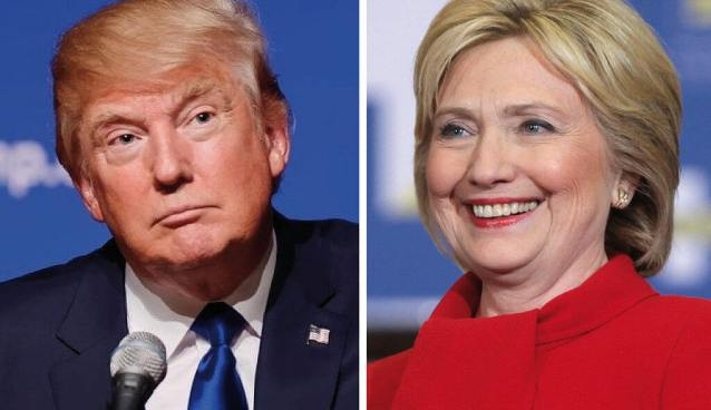 The two US presidential candidates, Donald Trump and Hillary Clinton