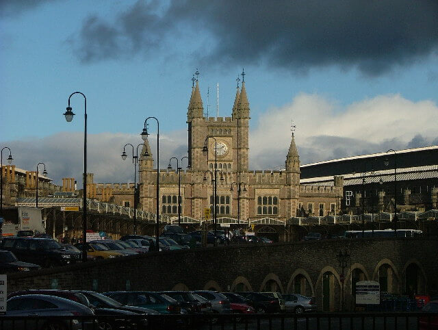 The current main passenger entrance into Bristol Temple Meads, built after Brunel's Original Station.