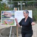 Erweiterung: 1. Spatenstich der Kindertagesstätte Havelländer Ring - Bezirksbürgermeisterin Dagmar Pohle