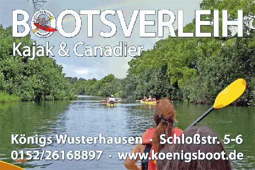 Bootsverleih-Kanu-Kajak-Koenigsboot