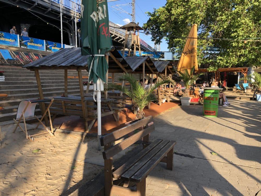 Bild Biergarten Strandbar gestrandet Janowitzbrücke in Mitte