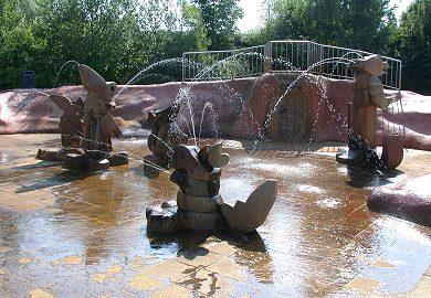 Wasserspielplatz in Marzahn, Grünzug Geraer Ring © Bezirksamt Marzahn-Hellersdorf