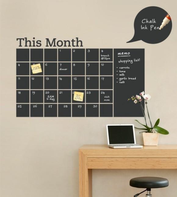 Wandsticker Kalender von SimpleShapes