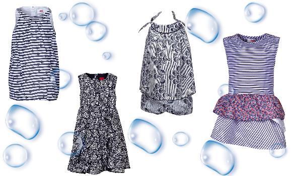 Zauberhafte Mädchenkleider für Babys in Blau