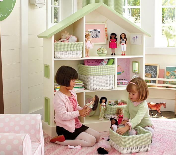 Großes Bücherregal Und Puppenhaus Fürs Kinderzimmer Von Pottery Barn Kids