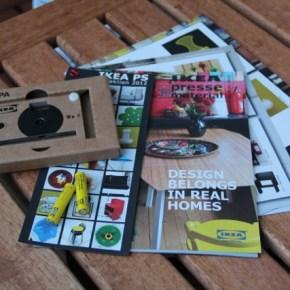 IKEA PS KNÄPPA Digitalkamera aus Pappkarton