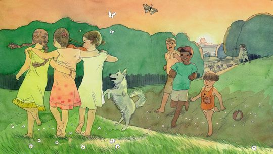 Kinderlieder Serie von ZEIT ONLINE (Illustration von Markus Lefrançois)