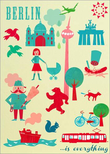 """Poster """"Berlin is Everything"""" von Elisandra"""