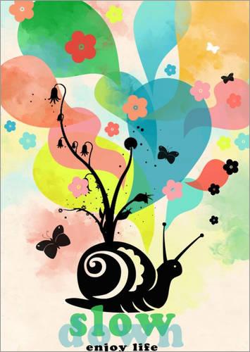 """Kunstdruck Poster """"Slow Down"""" von Elisandra"""