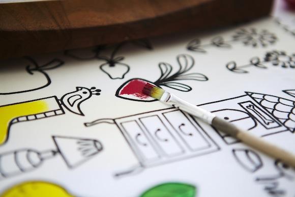 Tischdecke zum Anmalen von IKEA: TIDNY Meterware, IKEA Katalogstart August 2012