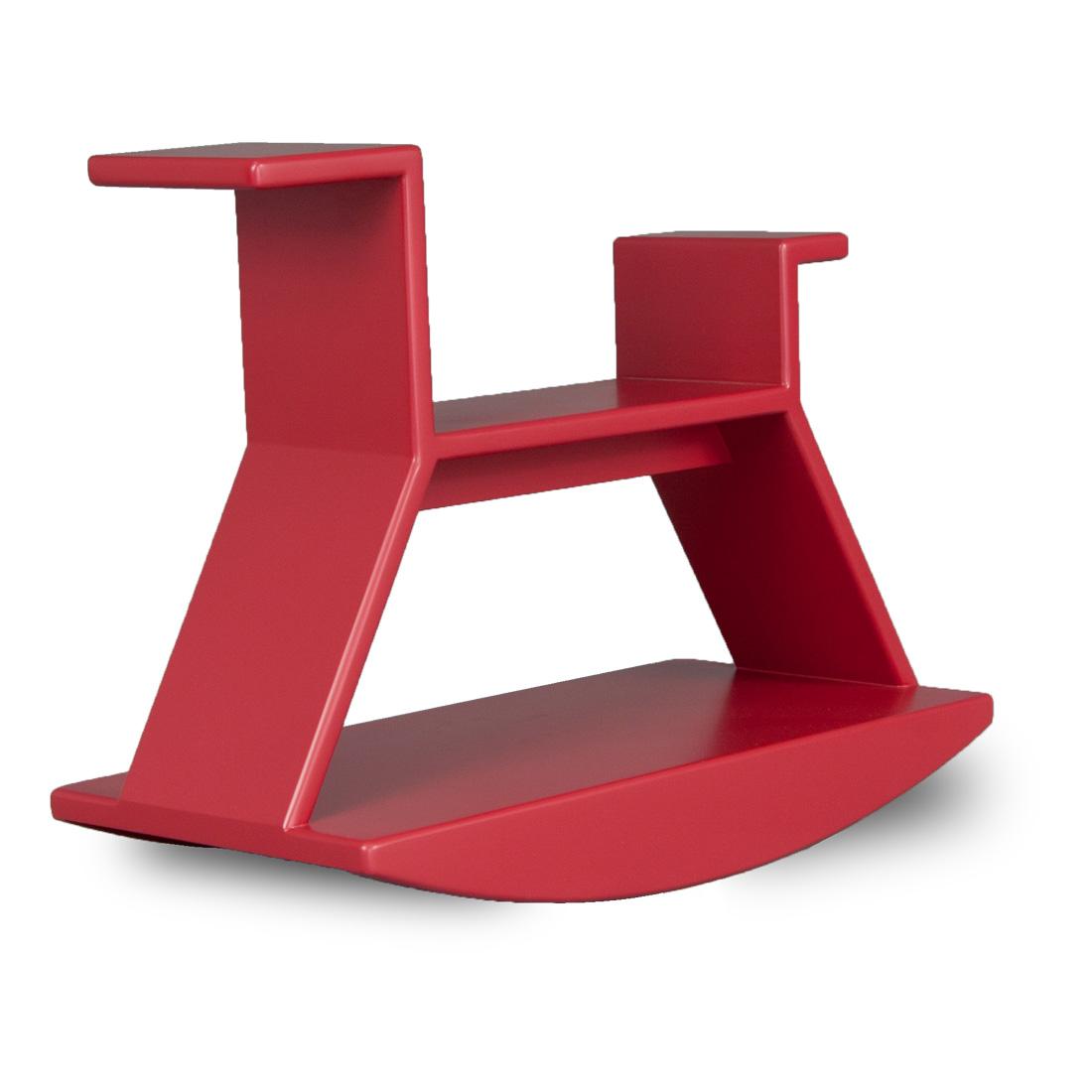 das schaukelpferd rocking horse vom berliner designb ro j i m aus rot lackiertem schichtholz. Black Bedroom Furniture Sets. Home Design Ideas
