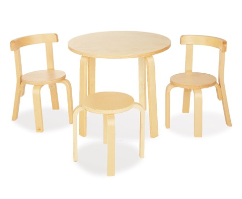 Alvar aalto kindertisch f rs kinderzimmer original und kopie for Runde kindertische