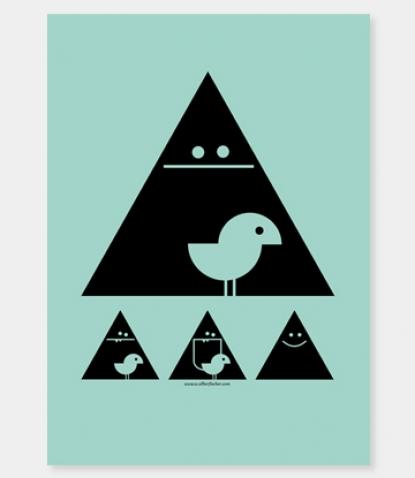 """Poster fürs Kinderzimmer: """"Achtung Birdie!"""" von SILBERFISCHER aus Berlin"""