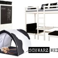 Schwarz und Weiß im Kinderzimmer, Hoppekids Möbel und Accessoires (Fotos: www.neckermann.de)
