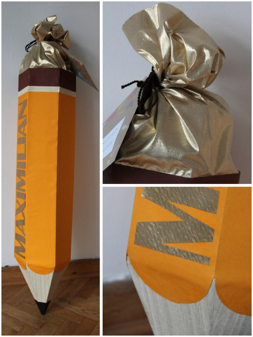 Fertig: Die Bleistift-Schultüte, fertig zur Übergabe