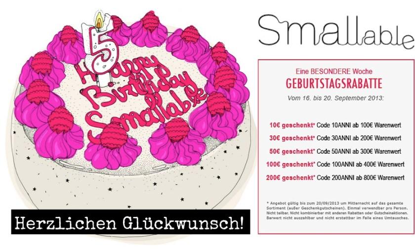 Schöner shoppen (und den 5. Geburtstag feiern!) bei Smallable