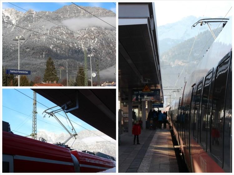 Sonniger Morgen beim Umstieg in Garmisch-Partenkirchen