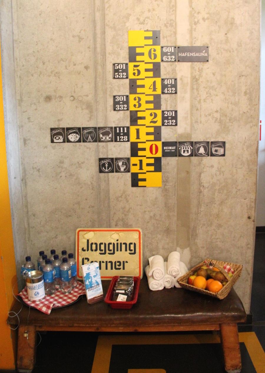 Ein Herz für Jogging-Fans im 25hours Hotel Hamburg Hafencity