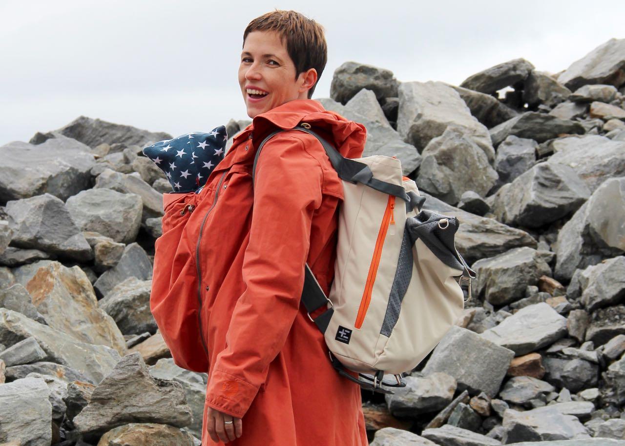 Mit dem Strandrucksack auf dem Kaunertaler Gletscher