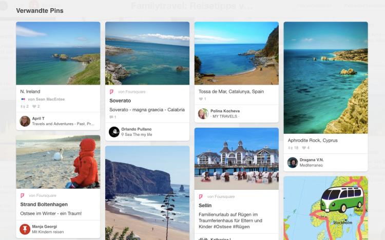 Reiseplanung mit Pinterest: Verwandte Pins zeigen ähnliche Bilder an. Oftmals mit überraschenden Reisezielen. (Quelle: www.Berlinfreckles.de)