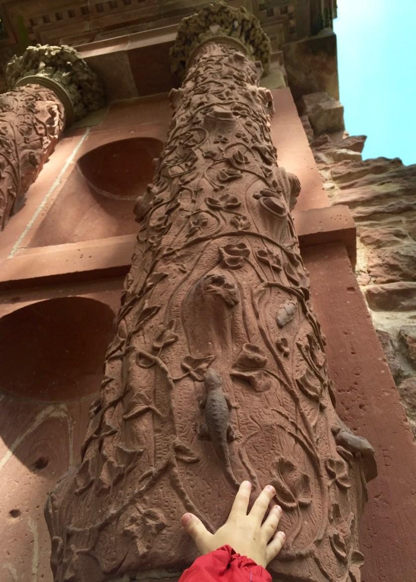 Das Elisabethentor im Heidelberger Schloss hat interessante Details.