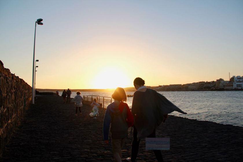 Teneriffa mit Kindern im Winter - Sonnenuntergang in El Médano