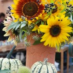 Sonnenblumenstrauß_Kürbis