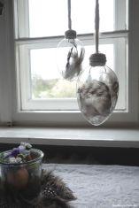 Federn in Glaseiern