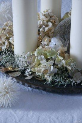 Advent mit getrocknetem Material ohne Nadelgehölze