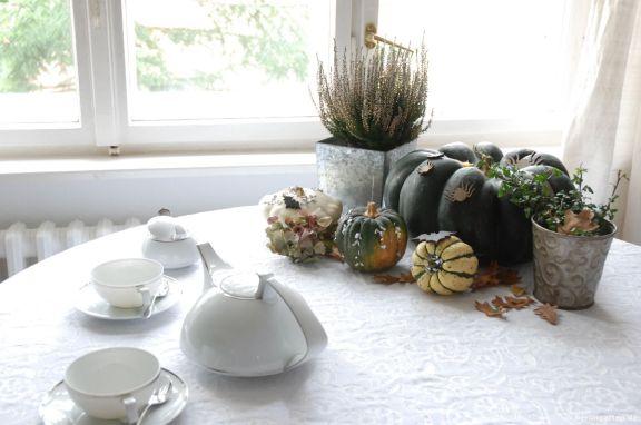 Halloween Tisch gedeckt